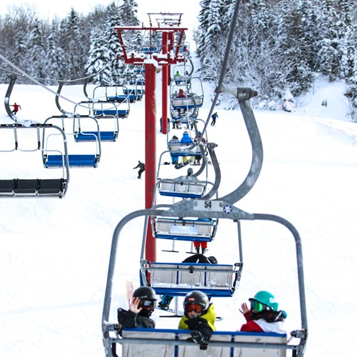 Can't Beat Smiling Faces! If You Want To See Your Logo On The Back Of Our Triple Chair Lift, Call Us At 1-800-663-2546 For All Your Options